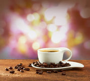 Cup of coffee on blur background Royalty Free Stock Photography