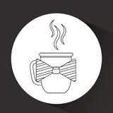 cup of coffee with bow tie design Royalty Free Stock Photography