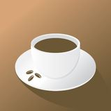 Cup of coffee on the brown background Royalty Free Stock Photos
