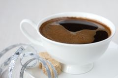 Cup of coffee, brown sugar Royalty Free Stock Photos