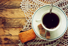 Cup of coffee, brown sugar Stock Photography