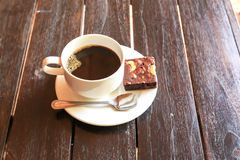 Cup of coffee with browny Stock Photography
