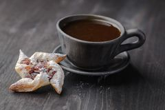 Biscuits with jam royalty free stock images