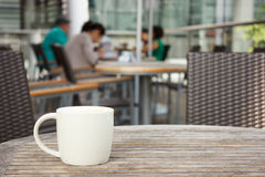Cup of coffee at cafe Royalty Free Stock Image