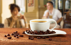 Cup of coffee in cafe Royalty Free Stock Image