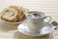 Cup of coffee and cake. Royalty Free Stock Photography