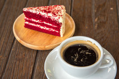 A cup of  coffee and cake. Royalty Free Stock Photo