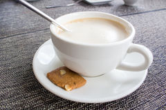 Cup of coffee and cake Royalty Free Stock Images