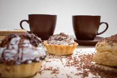 Cup of coffee and Cake on a table Royalty Free Stock Photography
