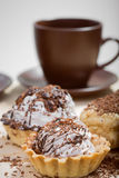 Cup of coffee and Cake on a table Royalty Free Stock Photo