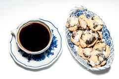 Cup of Coffee with Cakes Stock Photos