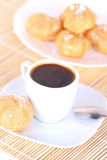 Cup of coffee and cakes Royalty Free Stock Photos