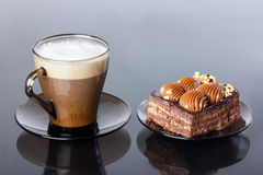 Cup of coffee, cakes Stock Image