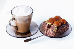 Cup of coffee, cakes Stock Photography