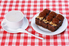 Cup of coffee, cakes Stock Photos