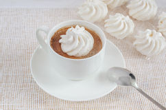 Cup of coffee with cakes Stock Photo