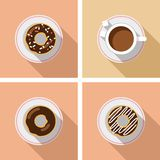 Cup of coffee with cakes - vector graphics Stock Images