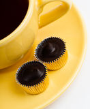 A Cup of Coffee with candy Stock Image