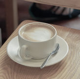 A cup of coffee. Cup of cappuccino or Latte Royalty Free Stock Photography