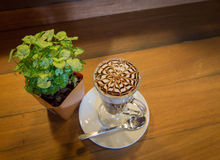 A cup of coffee. Cup of cappuccino or Latte Royalty Free Stock Images