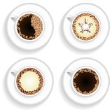 Cup of coffee and cappuccino set Royalty Free Stock Images