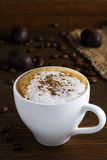 Cup of coffee. Cappuccino Stock Image