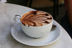 Cup of coffee (cappucino). A wonderful cafe from Italia. Do you want to taste it Royalty Free Stock Photos