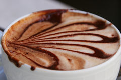 Cup of coffee (cappucino). A wonderful cafe from Italia. Do you want to taste it Stock Image