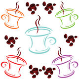 Cup of coffee cartoon art vector Royalty Free Stock Image