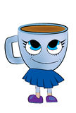 Cup of coffee cartoon Stock Photography