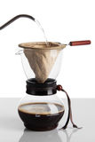 Cup of coffee and chemex Stock Image