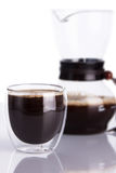 Cup of coffee and chemex Royalty Free Stock Photo