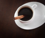 Cup of coffee with chinnamon Stock Images