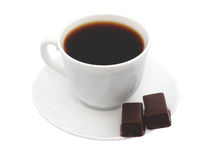 Cup of coffee chocolate. Isolated object Stock Photography