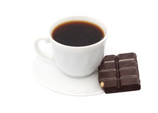 Cup of coffee chocolate. Isolated object Royalty Free Stock Photos