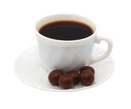 Cup of coffee chocolate. Isolated object Royalty Free Stock Photography