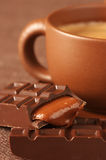 Cup of coffee and chocolate Royalty Free Stock Image