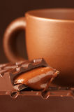 Cup of coffee and chocolate Royalty Free Stock Photography