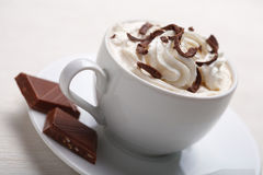 Cup of coffee with chocolate Royalty Free Stock Image