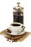 Cup of coffee, chocolate and cinnamon Stock Photo