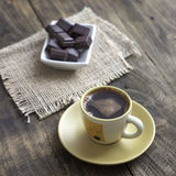 Cup of coffee with chocolate Stock Image