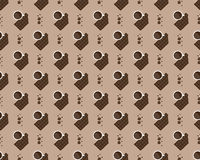 Cup of coffee and chocolate pattern Royalty Free Stock Image