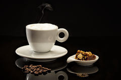Cup of coffee. With chocolates Stock Image