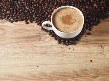 A cup of coffee. With cinnamon Royalty Free Stock Photography
