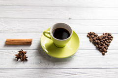 Cup of coffee with cinnamon Stock Photo