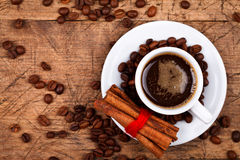 Cup of coffee with cinnamon Royalty Free Stock Photo