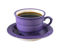 Cup of coffee with clipping path Stock Image
