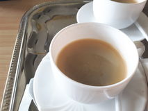 Cup of coffee. A close up on a cup of coffee Royalty Free Stock Image