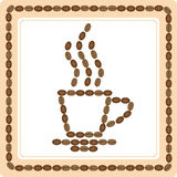 Cup of coffee from coffee beans Royalty Free Stock Photo
