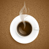 Cup of coffee on coffee beans background Royalty Free Stock Photo
